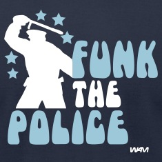 Navy funk the police by wam T-Shirts