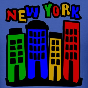 Royal blue New York City Brownstones, 4 Color--DIGITAL DIRECT ONLY T-Shirts - Men's T-Shirt