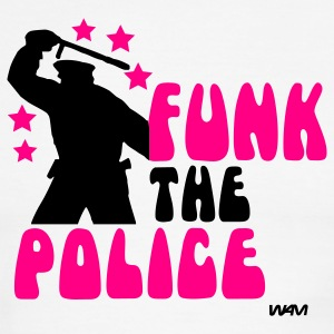 White/black funk the police by wam T-Shirts - Men's Ringer T-Shirt