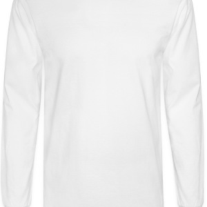 White heart puzzle Buttons - Men's Long Sleeve T-Shirt