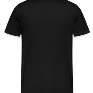 Black Funky Manhattan Cut Out Of Big Apple, 2 Color Bags  - Men's Premium T-Shirt