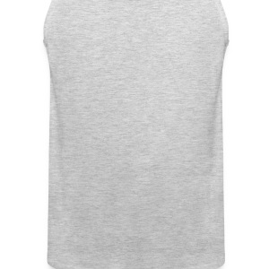 Heather grey hand holding a cigarette reefer T-Shirts - Men's Premium Tank