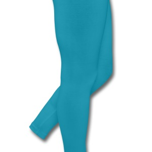 Turquoise a simple heart with big eyes Kids' Shirts - Leggings by American Apparel