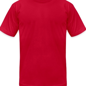 Red blame it on the boogies Baby Body - Men's T-Shirt by American Apparel