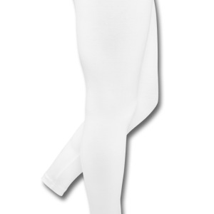 White I heart Polo Shirts - Leggings by American Apparel