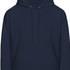 Navy Surfer Snack - Surfboard with shark bite Zip Hoodies/Jackets - Men's Hoodie