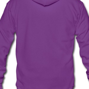 Birthday Love Blossoms T-Shirt Customize Text (lavender w/neon pink on purple) - Unisex Fleece Zip Hoodie by American Apparel