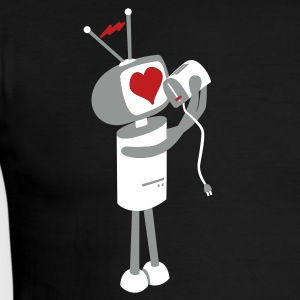Robot Love - Men's Ringer T-Shirt