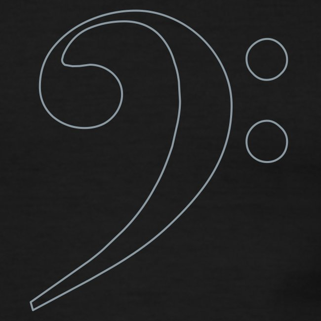 Silver Bass Clef