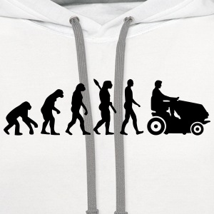 Evolution Lawn mower T-Shirts - Contrast Hoodie