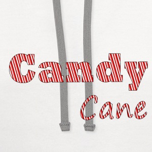 Candy cane women t-shirt - Contrast Hoodie