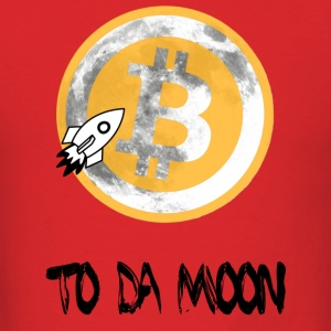 Womens Bitcoin To Da Moon Hoodie - Men's T-Shirt