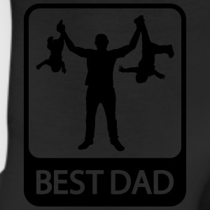 Best Dad - Funny Silhouette of Father and Children - Leggings