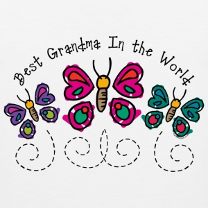 Butterfly Best Grandma Women's T-Shirts - Men's Premium Tank