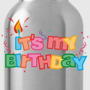 It's My Birthday Letters Kids' Shirts - Water Bottle