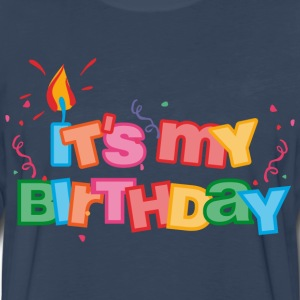 It's My Birthday Letters Kids' Shirts - Men's Premium Long Sleeve T-Shirt