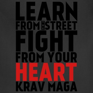 Learn Krav Maga white with red - Adjustable Apron