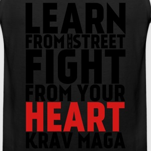Learn Krav Maga white with red - Men's Premium Tank