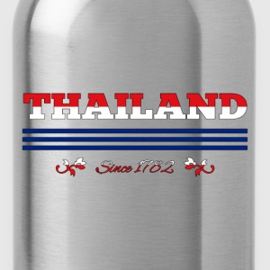 vintage colorized flag Thailand since 1782 - Water Bottle