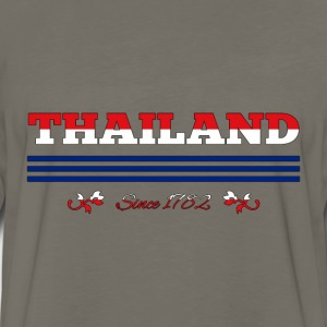 vintage colorized flag Thailand since 1782 - Men's Premium Long Sleeve T-Shirt