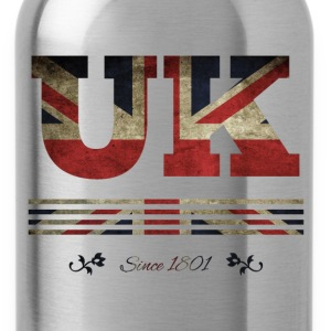 colorized flag vintage UK since 1801 - Water Bottle