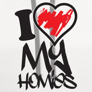 i love my homies Women's T-Shirts - Contrast Hoodie