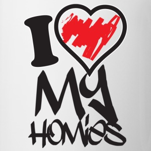 i love my homies Women's T-Shirts - Coffee/Tea Mug