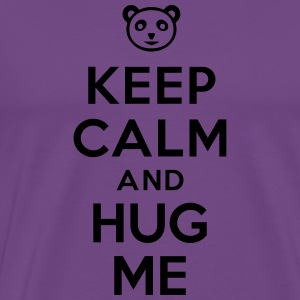 Keep calm and hug me Hoodies - Men's Premium T-Shirt