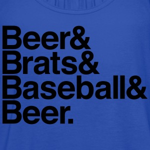 BEER & BRATS & BASEBALL Women's T-Shirts - Women's Flowy Tank Top by Bella