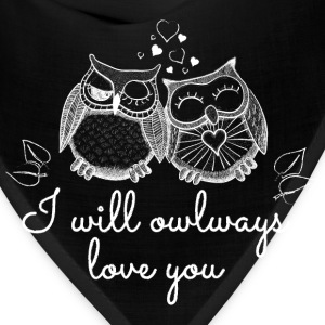 i will owlways love you owls Women's T-Shirts - Bandana