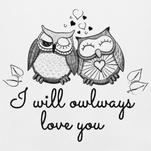i will owlways love you owls Hoodies - Men's Premium Tank