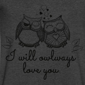 i will owlways love you owls Long Sleeve Shirts - Men's V-Neck T-Shirt by Canvas