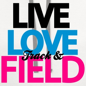 Live Love Track & Field Women's T-Shirts - Contrast Hoodie