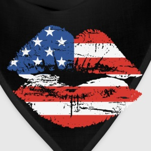 US Flag Lips T-shirt - Bandana