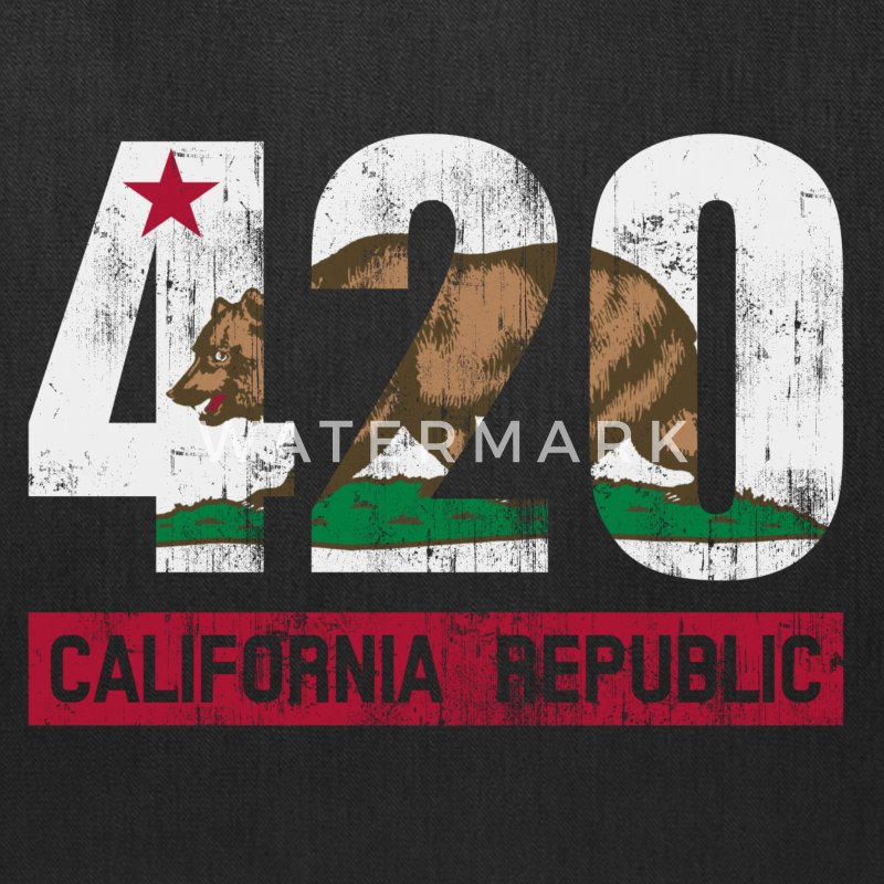 420 California Republic Flag Bags & backpacks - Tote Bag