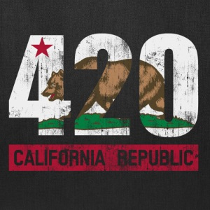 420 California Republic Flag Hoodies - Tote Bag