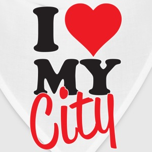 I Love My City T-Shirts - Bandana