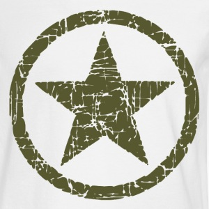 Vintage Army Star T-Shirts - Men's Long Sleeve T-Shirt