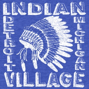 Indian Village Detroit Michigan Apparel T-shirts Sweatshirts - Fitted Cotton/Poly T-Shirt by Next Level