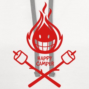 Happy Camper 1-color Kids' Shirts - Contrast Hoodie