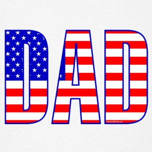 Dad Flag Text  Buttons - Men's T-Shirt