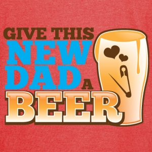 Give this NEW DAD a BEER Bags & backpacks - Vintage Sport T-Shirt