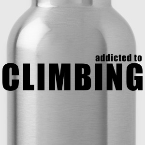 addicted to climbing T-Shirts - Water Bottle