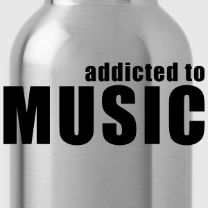 addicted to music T-Shirts - Water Bottle