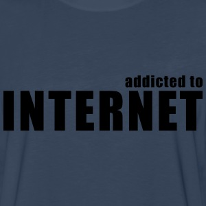 addicted to internet T-Shirts - Men's Premium Long Sleeve T-Shirt