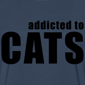 addicted to cats T-Shirts - Men's Premium Long Sleeve T-Shirt