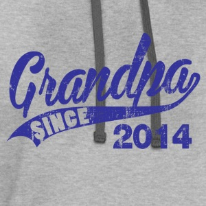 grandpa_since_2014 T-Shirts - Contrast Hoodie