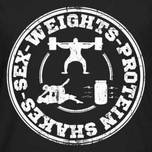 sex_weights_protein_shakes T-Shirts - Men's Premium Long Sleeve T-Shirt