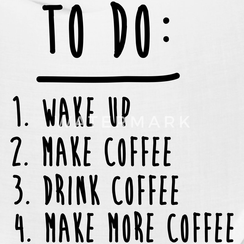 Coffee To Do List Funny Cute Shirts Caps - Bandana