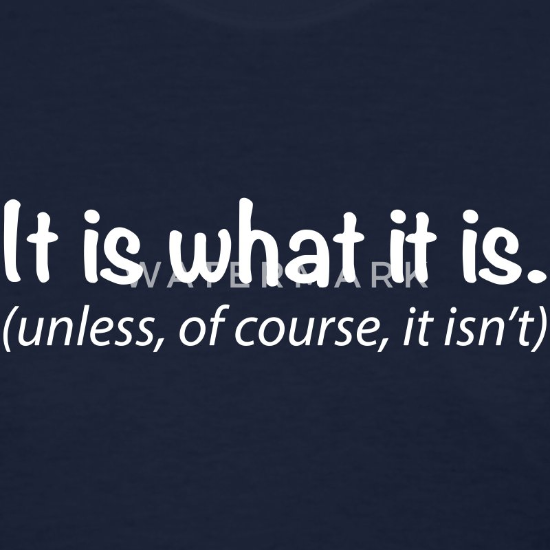 It is what it is... unless of course it isn't Women's T-Shirts - Women's T-Shirt